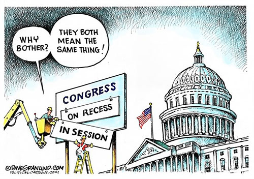 jpg Editorial Cartoon: Congress in session
