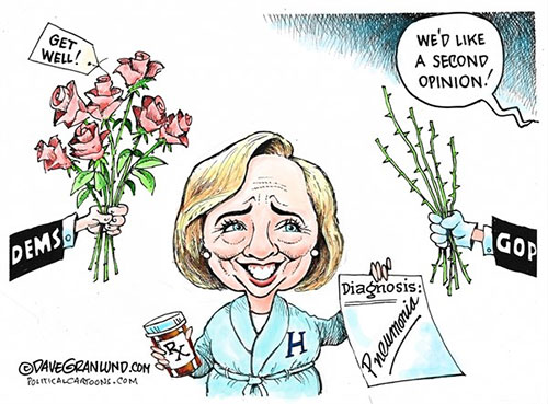 jpg Editorial Cartoon: Hillary diagnosis