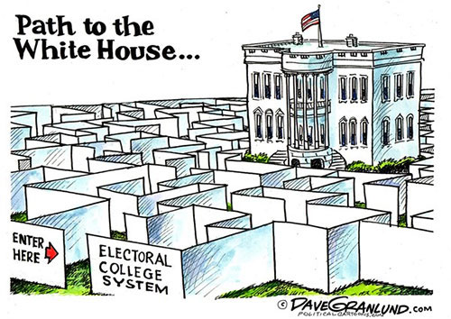 jpg Editorial Cartoon: Electoral College - Path to the White House