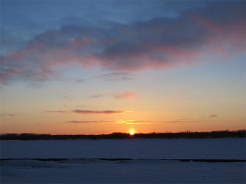 jpg Sunrise on the Andreafsky River in St. Mary's, Alaska