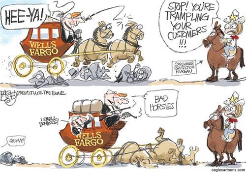 jpg Editorial Cartoon: Wells Fargo