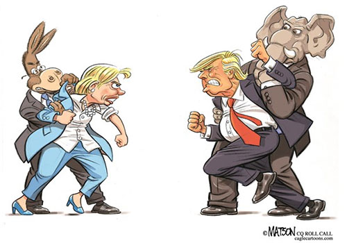 jpg Editorial Cartoon: Clinton and Trump Debate