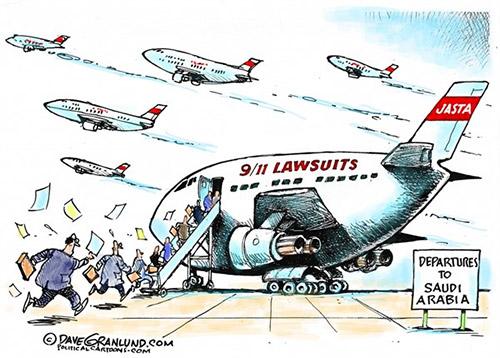 jpg Editorial Cartoon: 9/11 Lawsuits vs Saudis