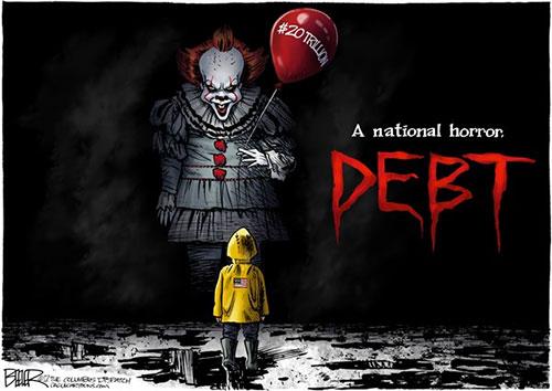jpg Editorial Cartoon: 20 Trillion Debt