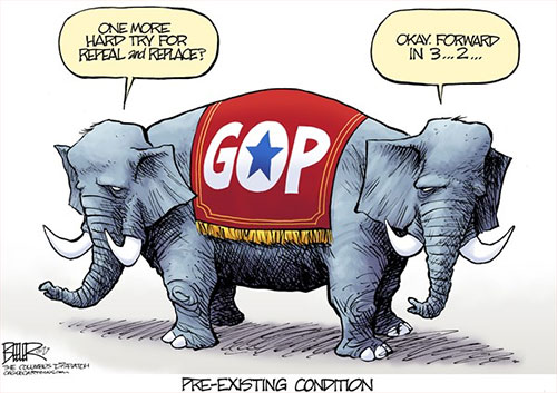 jpg Editorial Cartoon: GOP Preexisting Condition