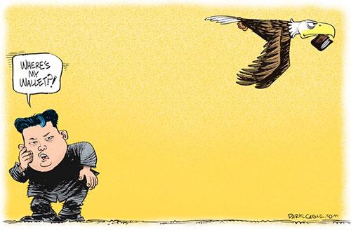 Editorial Cartoon: North Korea Sanctions