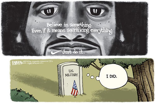 jpg Political Cartoon: Nike Ad