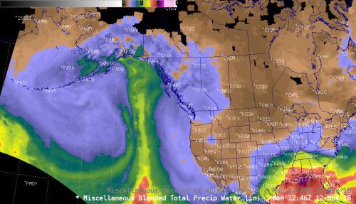 Atmospheric rivers sometimes soak Alaska