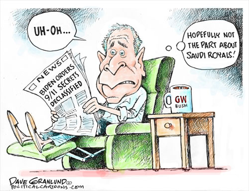 jpg Political Cartoon: Biden orders Sept 11 declassified
