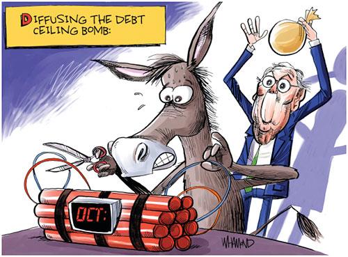 jpg Political Cartoon: Debt Ceiling Bomb