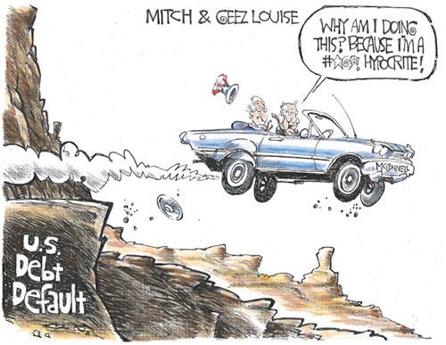jpg Political Cartoon: U.S. debt default