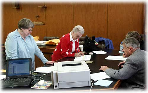 Canvassing Board Recount Photo