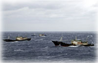 Boutwell captures three high seas drift net fishing vessels...
