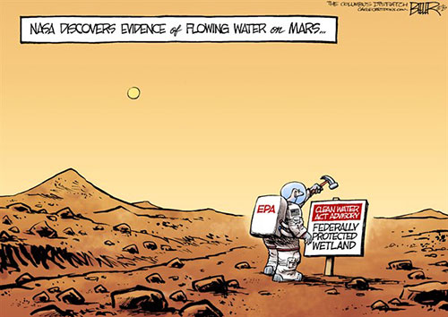 jpg Political Cartoon: Water on Mars