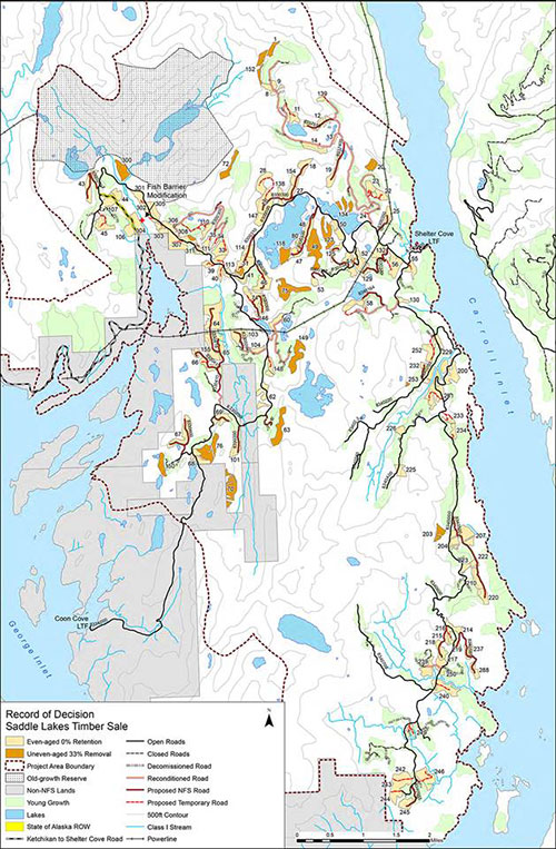 jpg The project area is located on Revillagigedo Island about 14 miles northeast of Ketchikan, between George and Carroll Inlets.