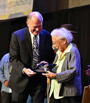 Poldine Carlo Receives the 2015 Shirley Demientieff Award