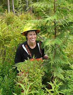 jpg Sheila Spores honored for silviculture work
