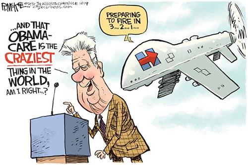 jpg Editorial Cartoon: Hillary Drones Bill