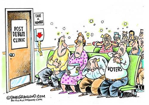 jpg Editorial Cartoon: Post debate clinic