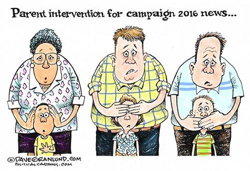 jpg Editorial Cartoon: Kids and 2016 politics
