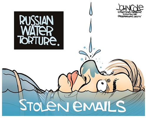jgp Editorial Cartoon: Russian water torture