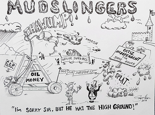 JGP Editorial Cartoon: MUDSLINGERS