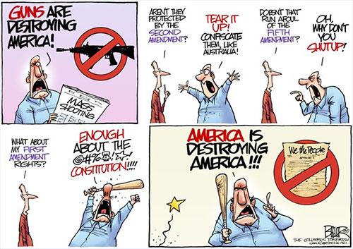 jpg Editorial Cartoon: Gun Battle
