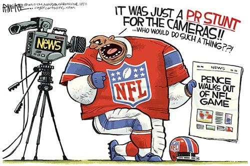 jpg Editorial Cartoon: NFL Stunt