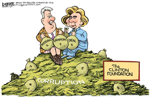 jpg Editorial Cartoon: Clinton Foundation
