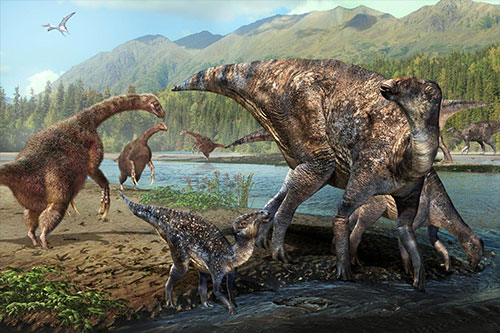 First North American co-occurrence of Hadrosaur and Therizinosaur tracks found in Alaska