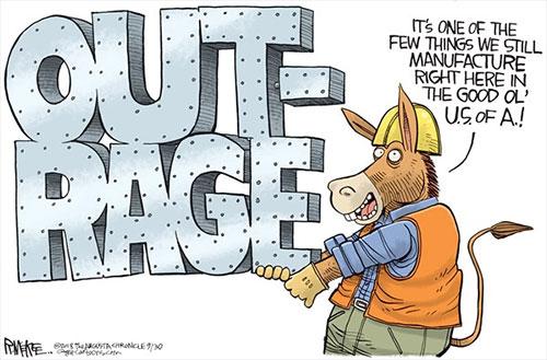 jpg Political Cartoon: Democrat Manufactured Outrage