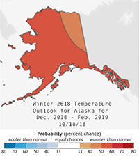 NOAA Winter Outlook favors warmer temperatures for much of Alaska & U.S.