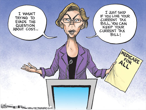 jpg Political Cartoon: Warren's Medicare for All