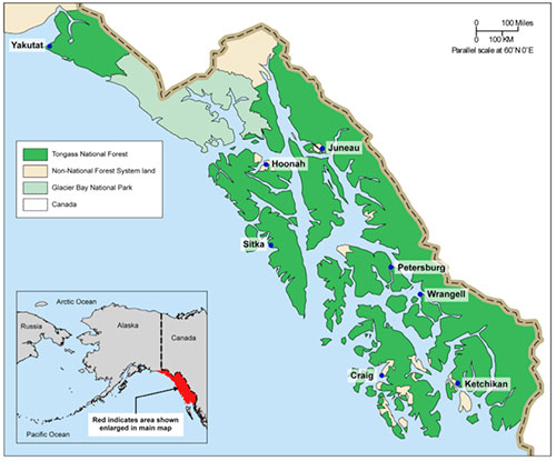 jpg Tongass National Forest Map