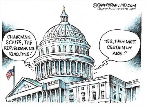 jpg Political Cartoon: Republican Reps storm secret Hill meeting