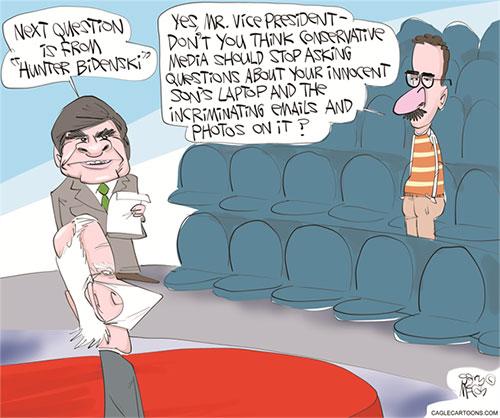 jpg Political Cartoon: Hunter's Dirty Dealings