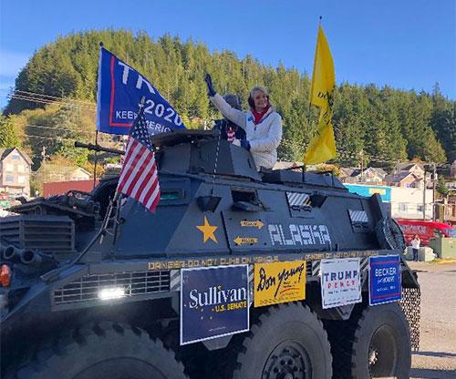 Trump Rally and Car Parade Held in Ketchikan