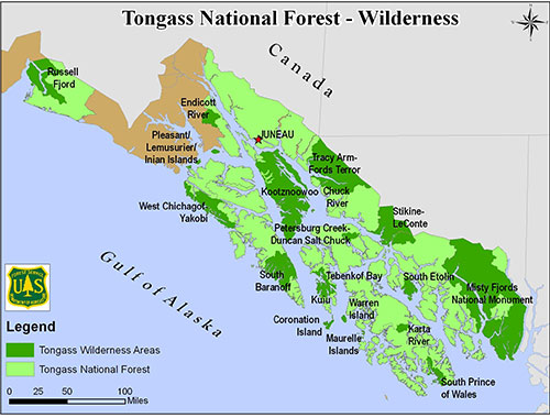 "jpg Southeast Alaska's Tongass National Forest exempted from national ""roadless rule"""