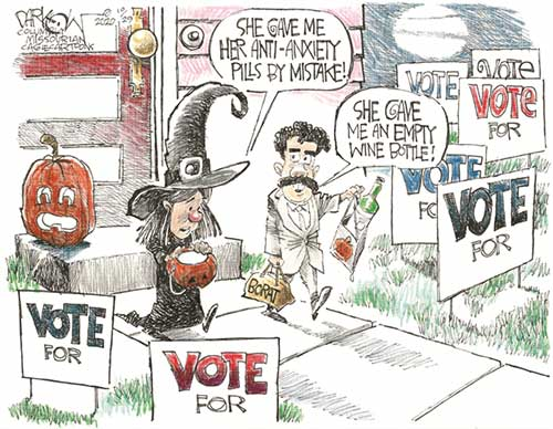 jpg Political Cartoon: Campaign anxiety