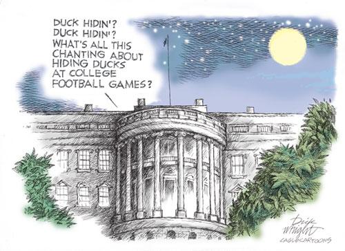 jpg Political Cartoon: Biden Hiden' Ducks