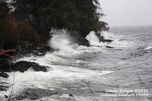 jpg Rough seas at Mountain Point Sunday
