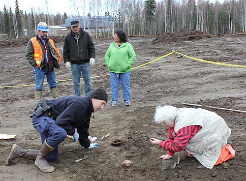 jpg part of a human skull in McGrath unearthed