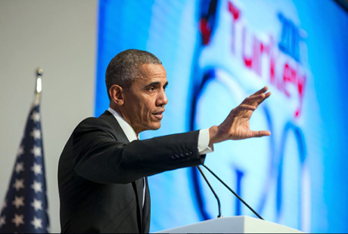 jpg At the G-20 Summit in Antalya, Turkey, President Barack Obama underscored the need for nations around the world to unite against the threat of terrorism.