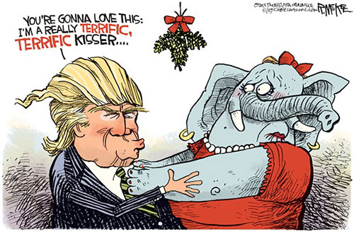 jpg Editorial Cartoon: Trump Mistletoe