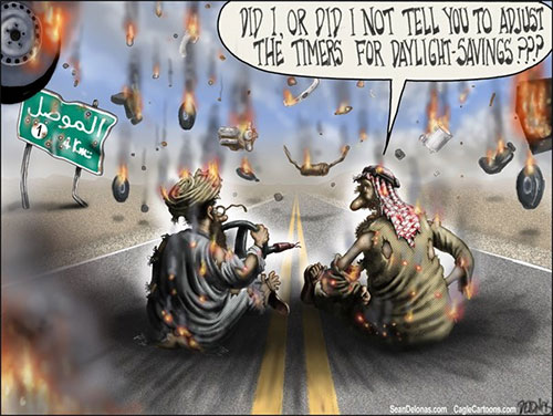 jpg Editorial Cartoon: Daylight- Savings Time Terrorism
