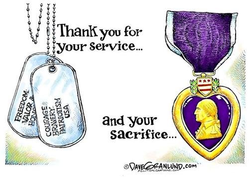 jpg Editorial Cartoon: Veterans' Service and Sacrifice