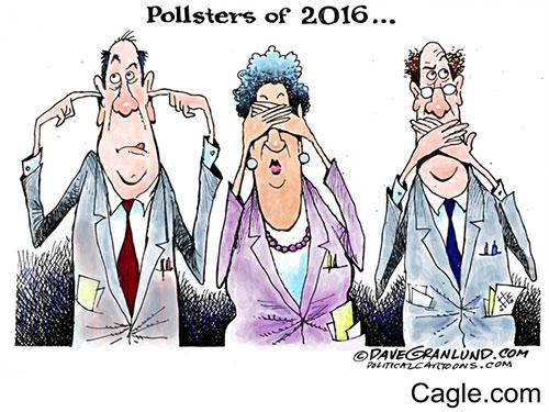 jpg Editorial Cartoon: Pollsters of 2016