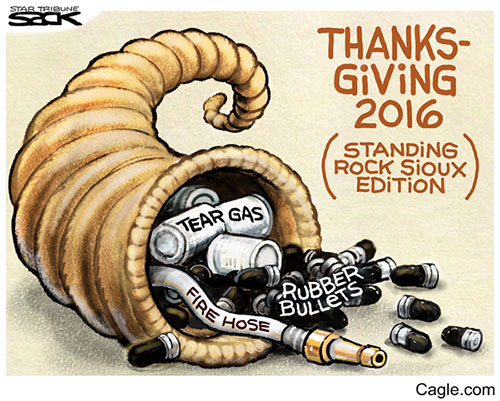 jpg Editorial Cartoon: Standing Rock Thanksgiving