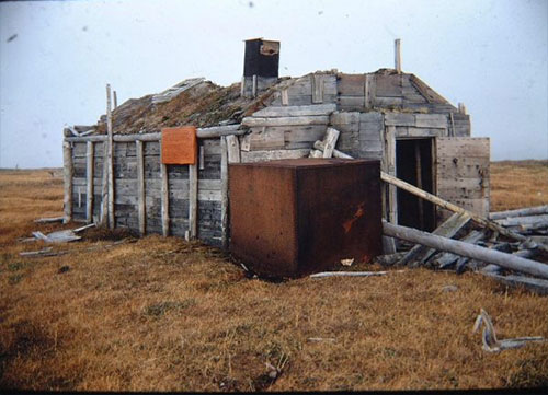 jpg The main building at Ernest Leffingwell's living site on Flaxman Island remains standing in this photograph from 1970.