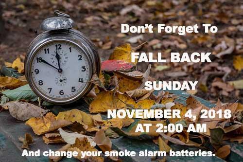 jpg Fall Back Sunday Nov. 4, 2018